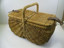 "LARGE WICKER PICNIC BASKET VERY NICE LOOK!!! 24"" x 12"" x 10"""