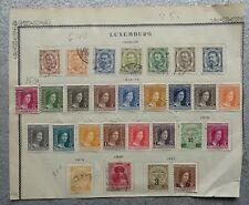 Luxemburg 1906-1921 (28 old stamps) from estate sale (1921 overprint/precancel?)