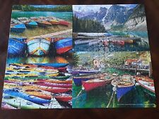 Big Ben Luxe ~ 500 Piece Puzzle ~ Boat Collage ~ Assembled once  ~ Complete