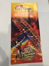 six flags park maps | eBay