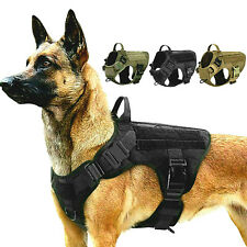 Rabbitgoo Tactical Dog Harness with Handle No-pull Large Military Dog Vest (US)