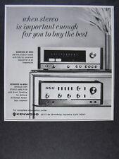 1973 Kenwood KA-8004 Amplifier KT-8005 Stereo Tuner photo vintage print Ad