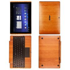 Skinomi Light Wood Tablet Skin Cover+SP for Asus EEE Transformer TF101+KB