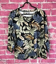 Caribbean Joe Woman Floral Print 3/4 sleeve Womens Size Medium / Large