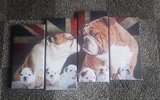 English, British Bulldog, Canvas ,Dog, pet, wall art , photo, print