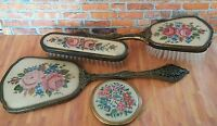 Vintage 4 Piece Dressing Table Set - Mirror Brush
