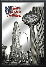 Barspiegel NY Clock, 20 x 30 cm Retro, Nostalgie, Werbung