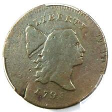 1795 Liberty Cap Flowing Hair Half Cent 1/2C - Certified PCGS VG8 - $975 Value