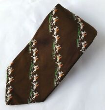 Vintage Resilio Men's Tie Brown White Horses 4.25' X 56""