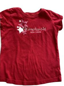 AMERICAN GIRL DOLL Shirt 7 8 S SMALL T-Shirt Shortsleeve RED Stars