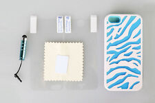 Zebra Hard Rubberized Protector Case Cover for iPhone 5 5S SE With Stylus Pen US
