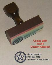 Pentagram Rubber Stamp With Your Custom Address