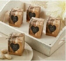 50 x 'Rustic Hearts in Love' vintage wedding favour box- new