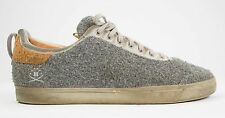 Rare RANSOM by ADIDAS F/W 2011 Gray Wool & Brown Suede Leather Sneakers US 9.5