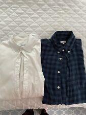 2 Steven Alan Shirts- Size M- White and Blue Check
