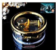 Gorgerous Circle in Gold Wind Up Music Box :Harry Potter Hedwig's Theme