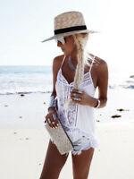 Women Sleeveless Lace Chiffon Summer T-Shirt Blouse Beach Vest Casual Tank Tops