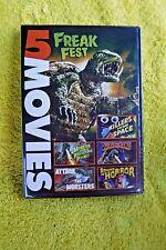 BRAND NEW/SEALED SCI-FI DVD! 5 FILM FREAK FEST! SPACE ALIENS, MONSTERS-OLD FILMS