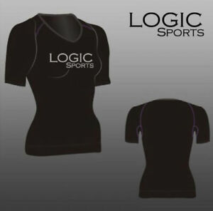 Logic Ladies Womens Base Layer Compression Sports Half Sleeve + Yoga/Gym Top