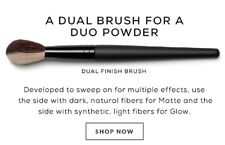BAREMINERALS DUAL FINISH BLUSH & CONTOUR MAKEUP FOUNDATION BRUSH BARE MINERALS