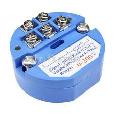 RTD PT100 Temperature Sensors Transmitter 0 to 200° DC 24V Blue 4-20mA