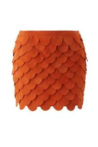 "SASS & BIDE ""The Companion"" Scalloped Suede Leather Mini Skirt - Size 6 - $590"