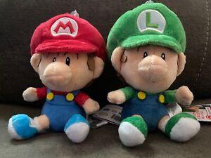 Nintendo Little Buddy Sanei Super Mario Bros Plush Set- Baby Mario & Baby Luigi