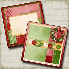 LET It Be CHRISTMAS - Christmas - 2 Premade Scrapbook Pages - EZ Layout 250