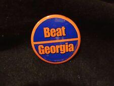 "Florida Gators Rivalry College 1.75"" Dia Button Pin Orange Stripe Beat Georgia"
