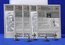 Axis & Allies Miniatures SET II 5 Wehrmacht Oberleutnants Stat Cards GE13 #35/45
