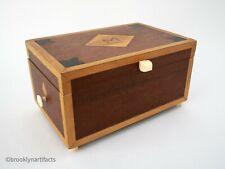 Antique Carved Wood Dresser Box - Sailor Made Nautical Theme