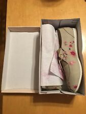 GOBY Oxfords Canvas Floral Pattern Flat Sneaker Shoes Flats New 9.5