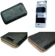 Echt Leder Tasche für Samsung Galaxy Ace S5830 Schutzhülle Case in Schwarz