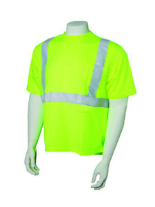 (6-Pack) Jackson Safety 2X-Large 3024370 Short Sleeve High Visibility Shirt-Lime