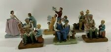 Lot Of 6 1979 Norman Rockwell Ceramic Figurines Sweet Sixteen Mother Toy Maker