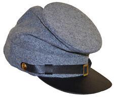GUERRA CIVILE AMERICANA ACW Confederate Grey arruolato Foraggio Cap Hat XLarge 60/61cms