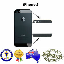 for iPhone 5 - TOP & BOTTOM REPLACEMENT GLASS COVER PIECE FOR BACK HOUSING BLACK