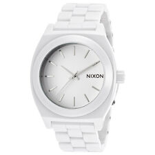 Nixon A250100 Unisex White Dial White Ceramic Bracelet Watch