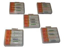 20x vhbw Longlife Akku 1000mAh Ready 2 Use AAA Micro R3 HR03 inkl Transport Box