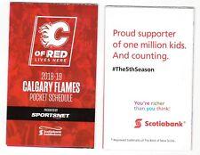 NHL Hockey Calgary Flames 2018 19 Pocket Schedule
