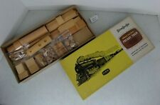 (Lot #1027) Vintage Model Trains Strombecker Wood Kit Freight Train Set Boxed