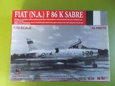 RARE NOS Tauro Fiat (N.A.) F-86K Sabre 1:72 Scale Resin & White Metal Model Kit