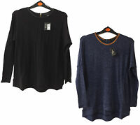 LADIES TOP FINE KNIT LONG SLEEVE EX UK STORE TOP 6-20 BRAND NEW