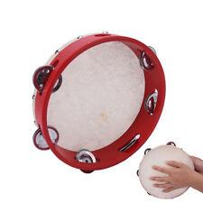 "8"" Musical Tambourine Tamborine Drum Round Percussion Gift for KTV Party FR*"