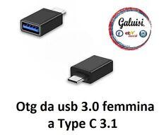 ADATTATORE CAVO CABLE OTG da usb 3.0 femmina a Type C 3.1 Maschio smartphone