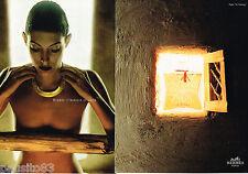 PUBLICITE ADVERTISING 065  1997  HERMES  joaillier ( 2p)AFRIQUE DE COEUR