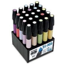 Chartpak Tri-Nibbed Pastel Permanent 25 AD Marker Set - Admarker SETF Alvin