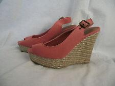BNWT Ladies Sz 9 Stunning Pink Girl Xpress Wedge Heel Classy Summer Sandals