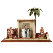 arte religiosa FONTANINI scena vita di cristo - nozze di cana presepe pastori