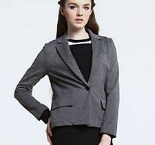 SALE!! $245 LACOSTE 0 32 Knitted Grey Cropped Jacket Women Coat Lady Blazer Gift